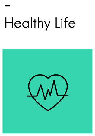 Heart Healthy Life Wellness Icon