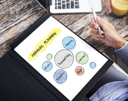 Financial planning concept on digital tablet