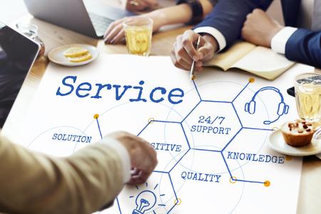 オンライン サービス顧客六角形図アイコン 写真素材