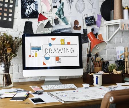 創造的なデザインの創造性図面の概念