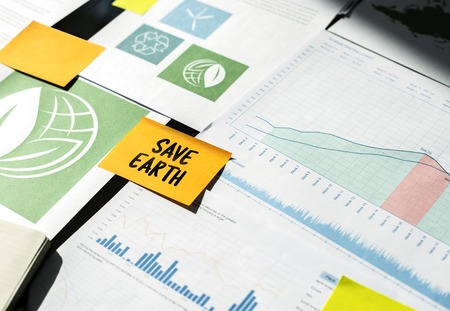 Save Earth Planet Environment Resonsibility Word Stock Photo