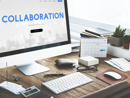 Collaboration Corporate Business Word Stock Photo