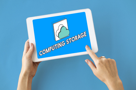 Data computing cloud icon graphic Stock Photo