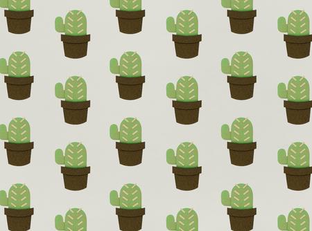 Cactus illustration concept Stock Photo