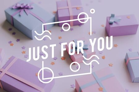 Just For You Gift Present Word Graphic Banco de Imagens