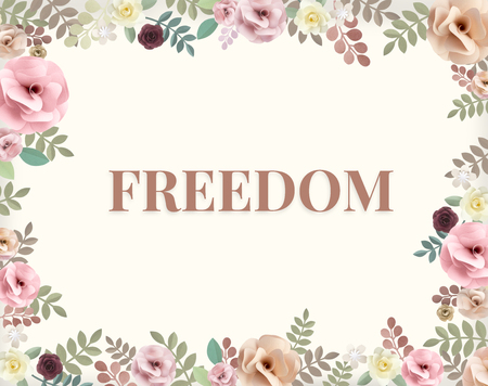 Illustration of freedom and carefree flower Banco de Imagens