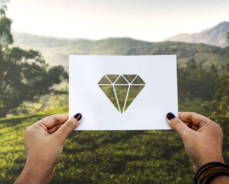 valuables: Valuables jewelry perforated paper diamond