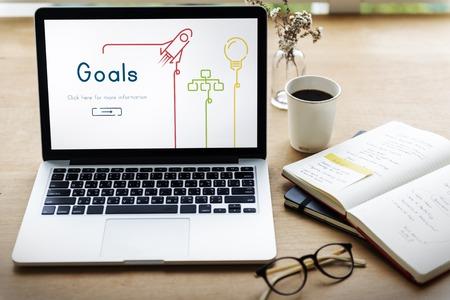Doelen Doel Aspiratie Dreams Missie Stockfoto