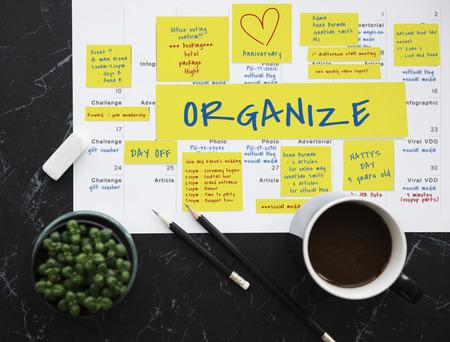 Organiseer Memo Opmerking Post Benoeming Herinnering voor vergaderingen
