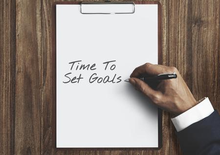 Tijd om doelen te stellen Doelaspiraties Doelstelling Doel Concept