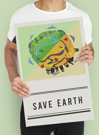 Save World Planet Earth Concept