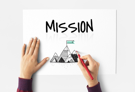 illustraion: Illustration of mission goals tartget motivation