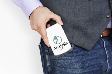 Illustratie van bedrijfsgrafiekgegevensanalyse