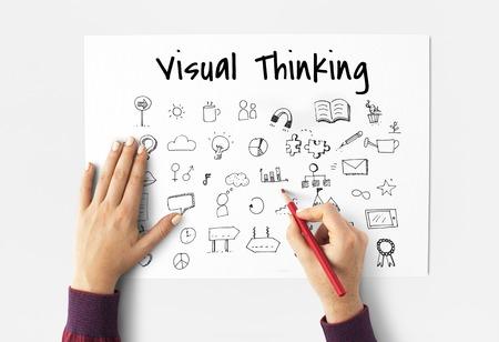 Visual Thinking Doodles Art Creative Design Icon Vector Graphic Illustration