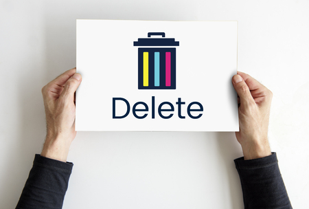 Delete cancel cut out remove erase edit Фото со стока