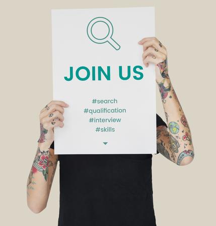 Employment Career Hiring Recruiting Conept Reklamní fotografie