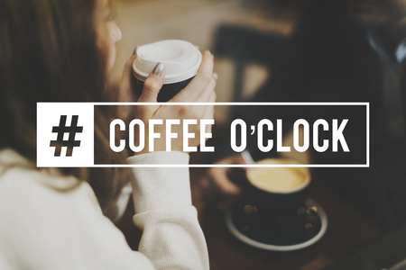 Coffee Break Time Lifestyle Relax Word Graphic