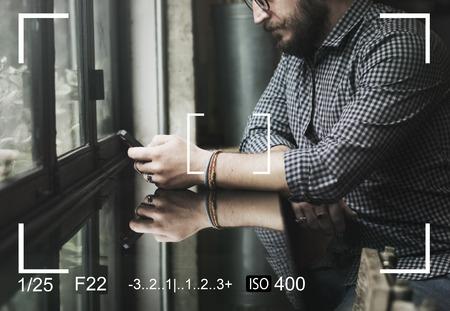 Kamera Sucher Capture Schnappschuss Vektor-Illustration Grafik Standard-Bild - 81583998