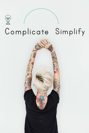 Antonym Opposite Complicate Simplify SImply Complex Stock Photo - 81584224
