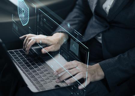 Verificação da Proteção de Proteção do sistema de Segurança de Dados Foto de archivo - 81584836