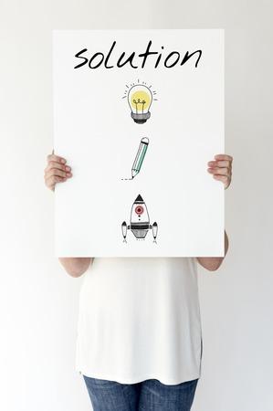 Illustratie van creativiteitsideeën voor probleemoplossende oplossing