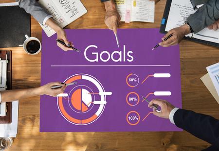 Bedrijfsproces Doelen Doel Succes Grafiek