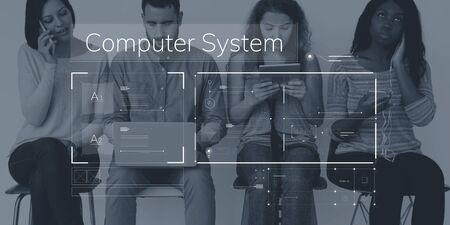 techie: Social Platform Internet Content Graphic Stock Photo