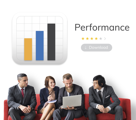 분석 비즈니스 차트 일러스트와 함께 사업 사람들