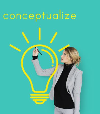 Ideas Light Bulb Think Create Graphic Word Stock Photo