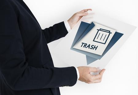 erased: Delete Remove Trash Can Application Graphic