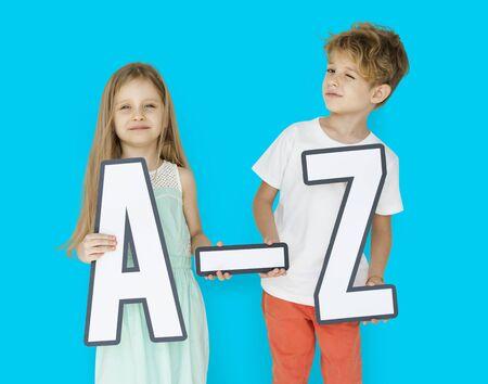 papercraft: Little Children Holding A-Z Papercraft