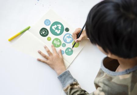 Sustainability Ecology Save Environment Concept Фото со стока