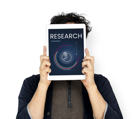 Research answer explanation information results Stock Photo