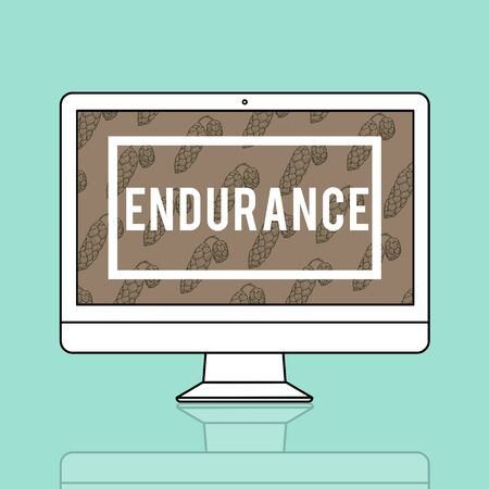 Endurance Fortitude Patience Perseverance Positive Stock Photo