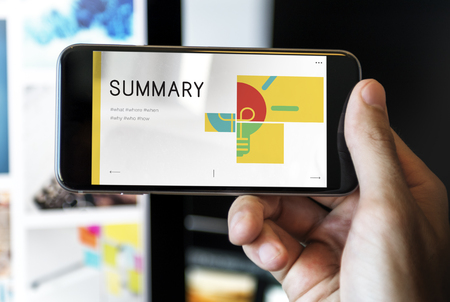 mobilephone: illustration of business strategy campaign plan