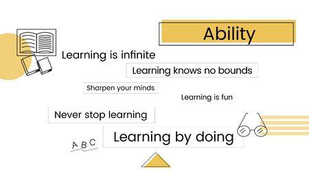 School education knowledge study graphic