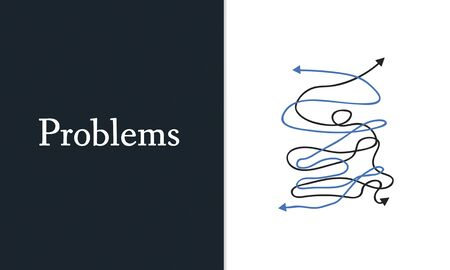 Gedeprimeerde Complicated Chaos Critical Situation Word Graphic Stockfoto