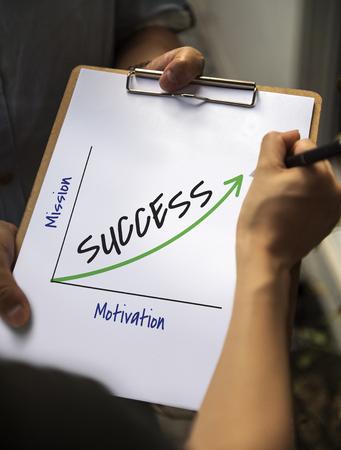 Success Accomplishment Development Growth Mission Stock Photo
