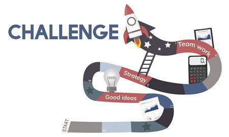 Business Planning Management Mission Teamwork Achievement Ladder Illustration Stock Illustration - 81611337