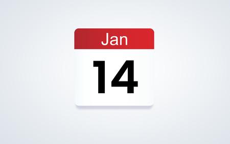 Calendar Illustration - January 14 Reklamní fotografie