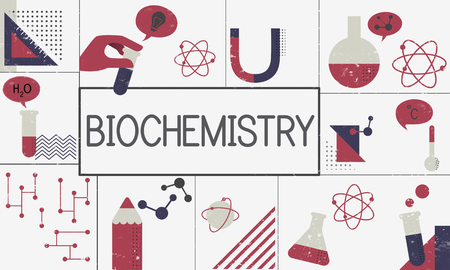 Illustration de l'étude de biochimie recherche scientifique Banque d'images - 81611469