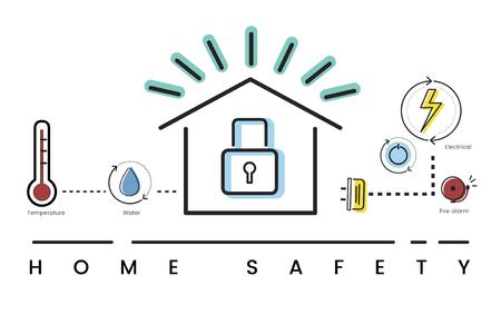 Illustration de la technologie d'automatisation de la maison intelligente d'invention Banque d'images - 81612021