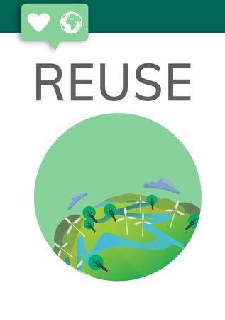 재사용 환경 생태학 자연 개념 스톡 콘텐츠