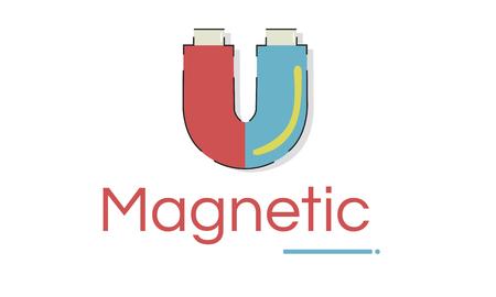 Illustratie van hoefijzer magnetisch veld energie