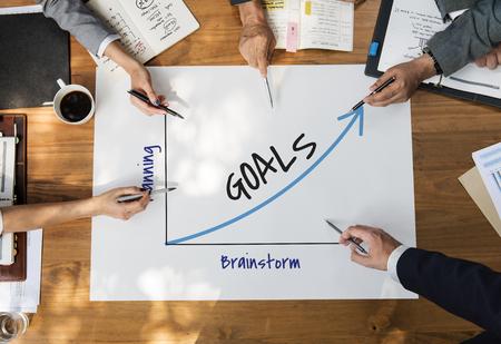 Oplossing Voorstel goede werkdoelen Stockfoto