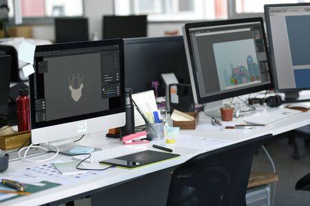 창조적 인 디자이너 작업장 장소 스톡 콘텐츠