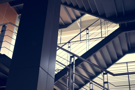 Business Startup Office Building Stairways Stock Photo