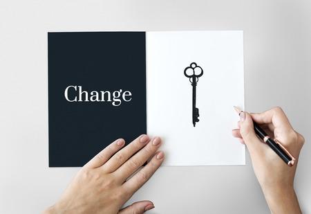 Significant Change Solutions Answers Solve Concept Foto de archivo