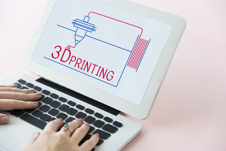 printout: Illustration of 3D printing craft innovation technology