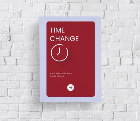 Time concept on a white brick wall Reklamní fotografie